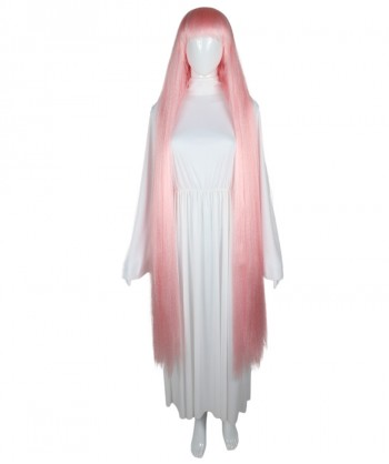 Halloween Party Costume 50-Inch Extra Long Lt Pink Wig HW-1855