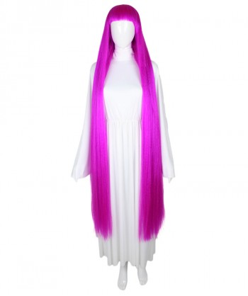 Halloween Party Costume 50-Inch Extra Long Neon Fushsia Wig HW-1858
