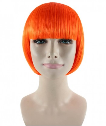 Halloween Party Costume (1-2 Days Dispatch) Classic Flapper Wig, Neon Orange HW-186