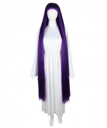 Halloween Party Costume 50-Inch Extra Long Violet Wig HW-1860