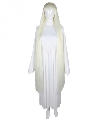 Halloween Party Costume 50-Inch Extra Long White Wig HW-1861
