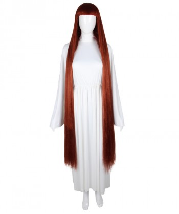 Halloween Party Costume 50-Inch Extra Long Dark Auburn Wig HW-1867