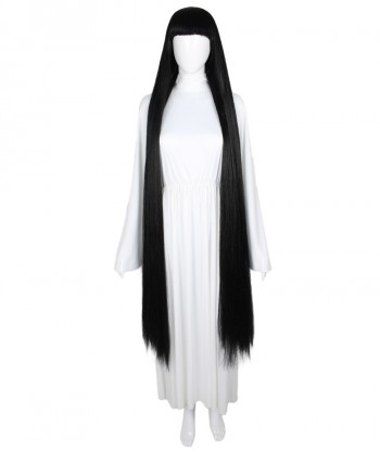 Halloween Party Costume 50-Inch Extra Long Black Wig HW-1868
