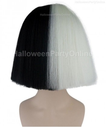 Halloween Party Costume Wig for Australian Singer Black & White Hidden HW-198