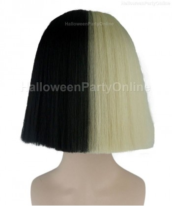 Halloween Party Costume Wig for Australian Singer Black & Blonde Hidden HW-199