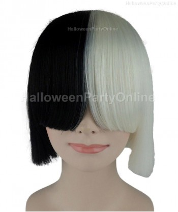 Halloween Party Costume Wig for Australian Singer Black & White Secret HW-206