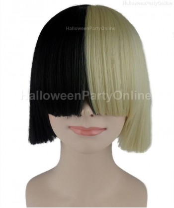 Halloween Party Costume Wig for Australian Singer Black & Blonde Secret HW-207