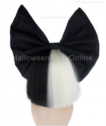 Halloween Party Costume Wig for Australian Singer Black & White Shy Black Bow HW-216