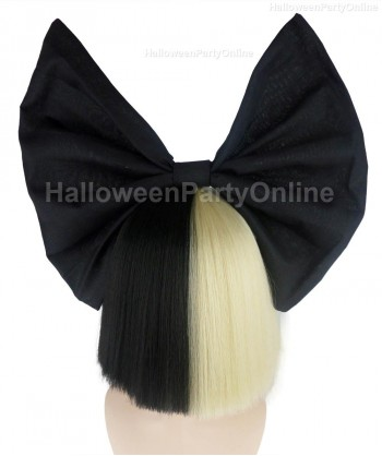 Halloween Party Costume Wig for Australian Singer Black & Blonde Shy Black Bow HW-219