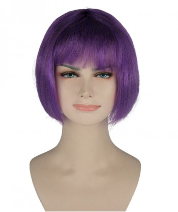 Halloween Party Costume (1-2 Days Dispatch) Purple Witch Bob Wig HW-227