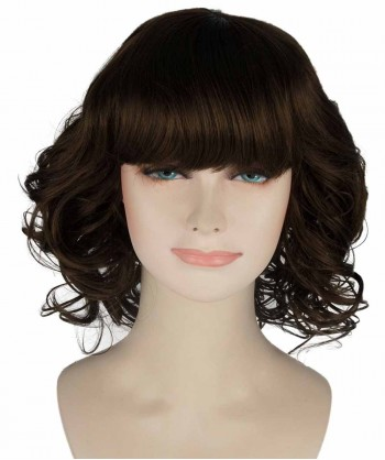 Halloween Party Costume (1-2 Days Dispatch) Wavy Brown Chic Wig HW-232