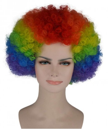 Halloween Party Costume (1-2 Days Dispatch) Rainbow Afro Clown Wig HW-233