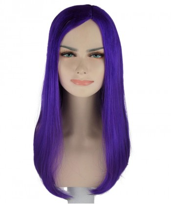 Halloween Party Costume (1-2 Days Dispatch) Purple Witch Long Wig HW-234