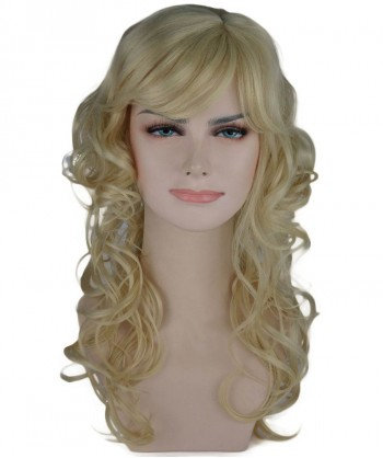 Halloween Party Costume (1-2 Days Dispatch) Blonde Curly Long Wig HW-235