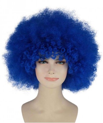 Halloween Party Costume (1-2 Days Dispatch) Blue Afro Clown Wig HW-241