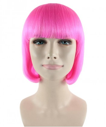Halloween Party Costume (1-2 Days Dispatch) Pink Lady Bob Wig HW-247