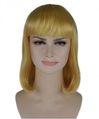 Halloween Party Costume Blonde Medium Bob Wig HW-259