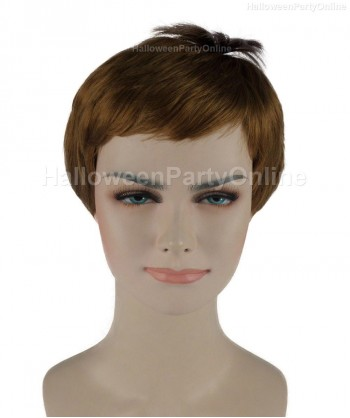 Halloween Party Costume Wig for Cosplay Stork Brown HW-269