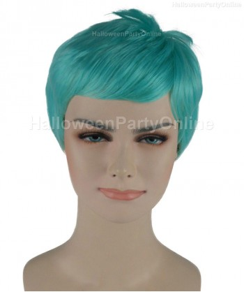 Halloween Party Costume Wig for Cosplay Storks Light Blue HW-271