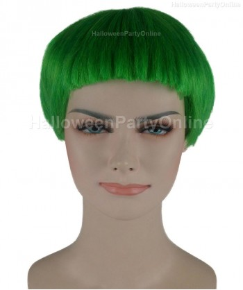 Halloween Party Costume Wig for Cosplay Stork Neon Green HW-275