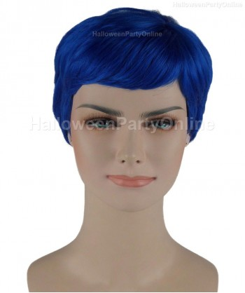 Halloween Party Costume Wig for Cosplay Stork Neon Blue HW-276