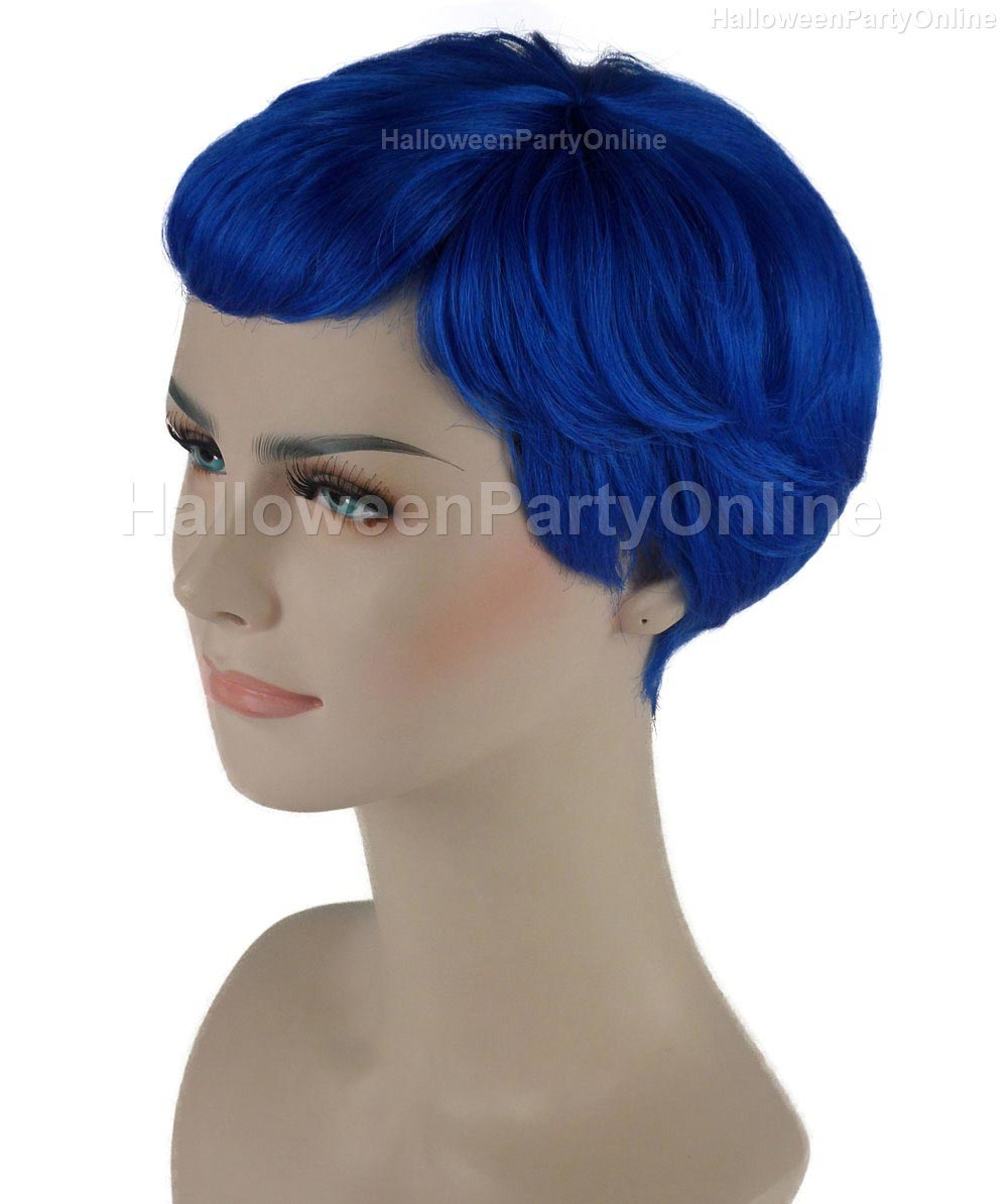 Wig for Cosplay Stork Neon Blue HW-276