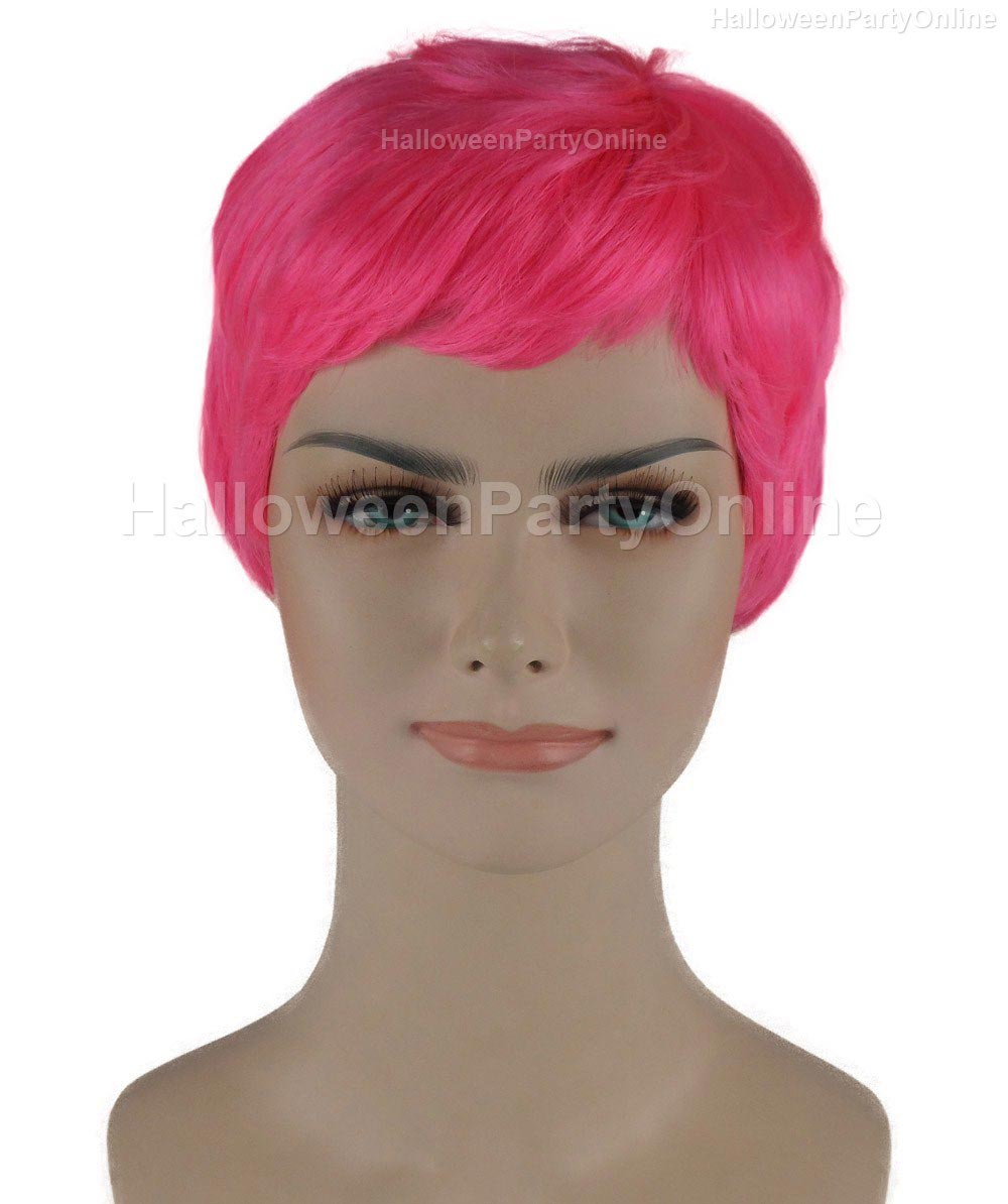 Wig for Cosplay Stork Neon Pink HW-277