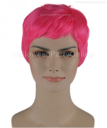Halloween Party Costume Wig for Cosplay Stork Neon Pink HW-277