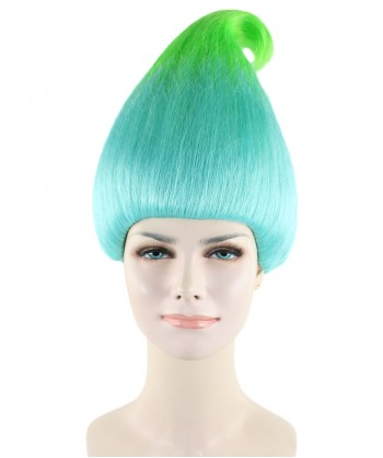 Halloween Party Costume (1-2 Days Dispatch) Wig for Cosplay Troll Bluish Green HW-280