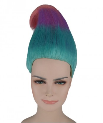 Halloween Party Costume (1-2 Days Dispatch) Wig for Cosplay Troll Multi-Color HW-281