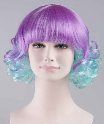 Halloween Party Costume Carnival Bi-Color Wavy Adult Wig HW-075