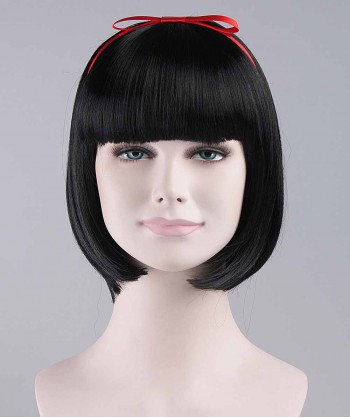 Halloween Party Costume Wig for Cosplay Princess Snow Black HW-092