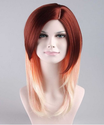 Halloween Party Costume Wig for Cosplay Gaga Brown Tone Wig HW-098