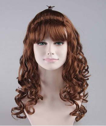 Halloween Party Costume Angel Brown Wavy Wig HW-102