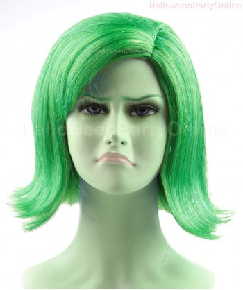 Halloween Party Costume (1-2 Days Dispatch)  Wig for Cosplay Disgust Green HW-137