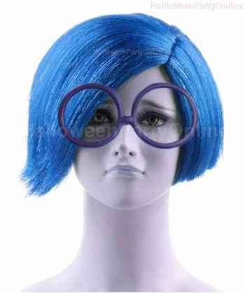 Halloween Party Costume (1-2 days dispatch) Wig for Cosplay Sadness Blue HW-138