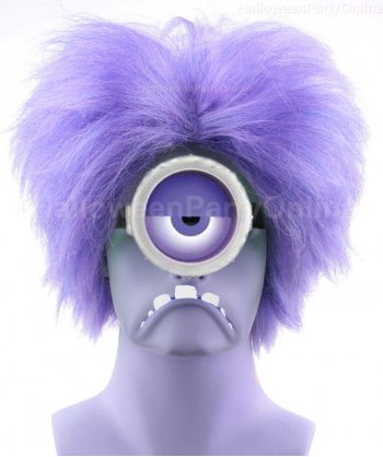 Halloween Party Costume Wig for Cosplay Evil Minion Purple HW-140