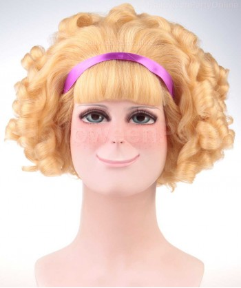 Halloween Party Costume Wig for Cosplay Madge Curly HW-149