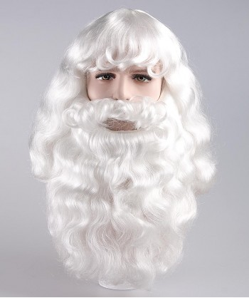 Halloween Party Costume Christmas Party Santa Claus Wig and Beard Set HX-002